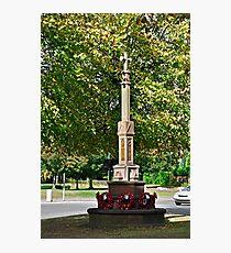War Memorial, Stapenhill Photographic Print
