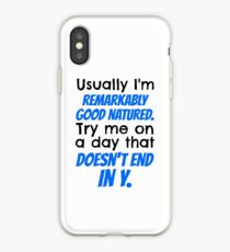 """""""Try me on a day that doesn't end in y."""" Jace Quote iPhone Case"""
