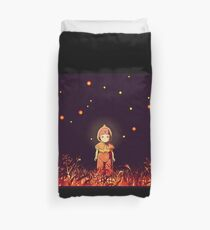 grave of the fireflies (la tumba de las luciérnagas) Duvet Cover