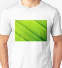 Macro shot of green leaf texture, nature background Unisex T-Shirt