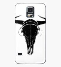 Skull and Phones (blackline) Case/Skin for Samsung Galaxy