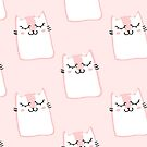 Cute pink kitty print by peggieprints