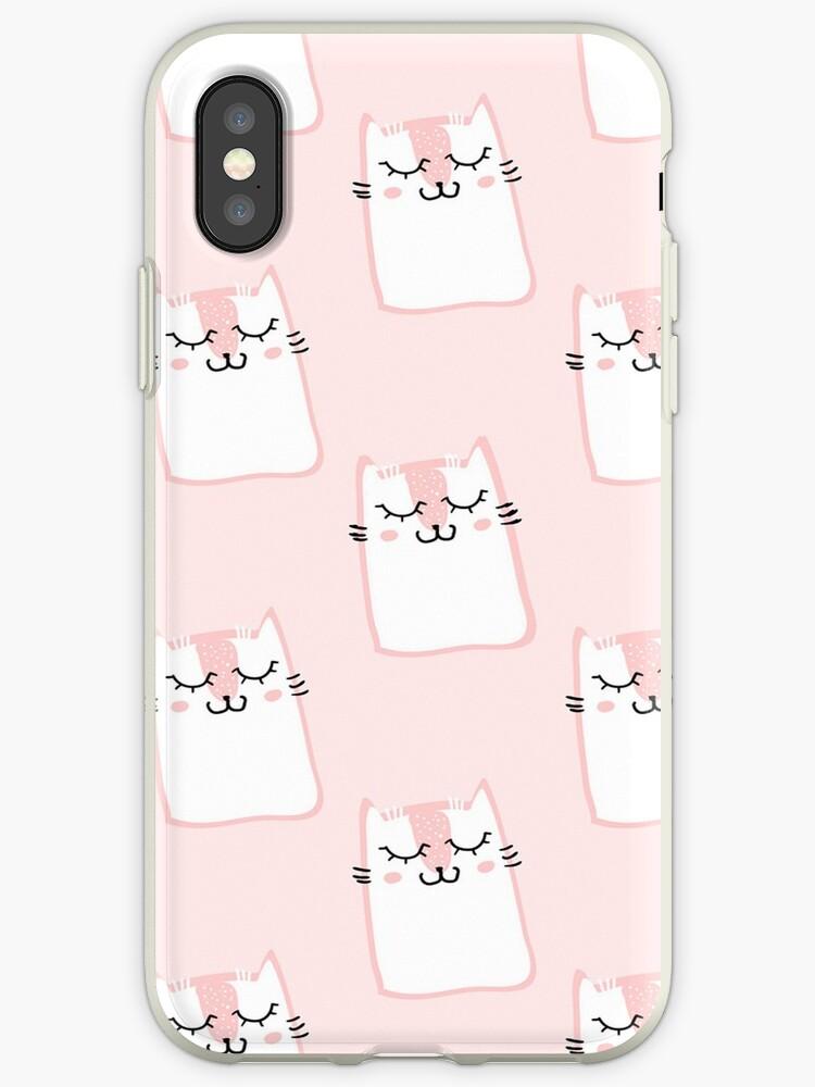 «Lindo estampado de gatito rosa» de peggieprints