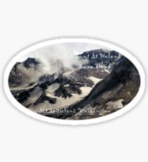 Mount St Helens lava dome closeup oval Sticker