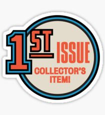 Comic Book Memories: 1st Issue Collector's Item Sticker