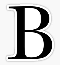 The Letter 'B' Sticker