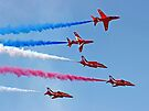 The Red Arrows - Rollbacks - Farnborough 2014 by Colin  Williams Photography