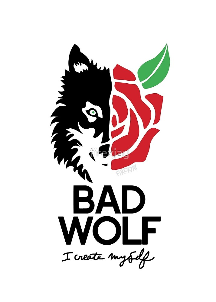 Quot Bad Wolf Quot By Firexjay Redbubble