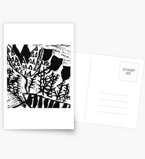Younger Plant print Postcards