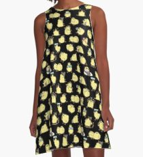 Fat Birdblob Pattern - Black A-Line Dress