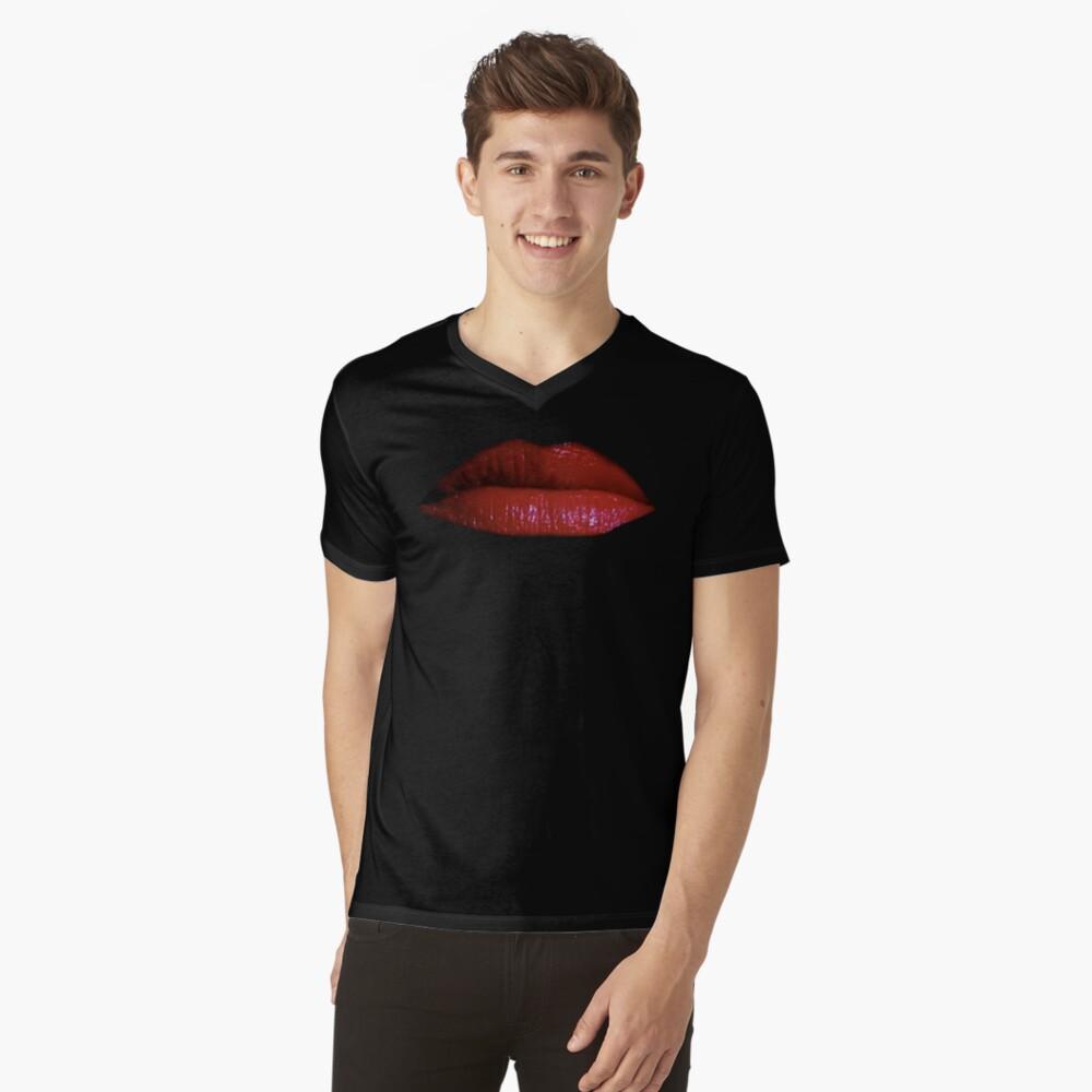 in der späten Nacht ... T-Shirt mit V-Ausschnitt