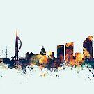Portsmouth England Skyline by Michael Tompsett