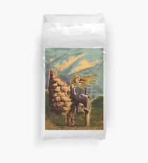 Girl with a big sword Duvet Cover