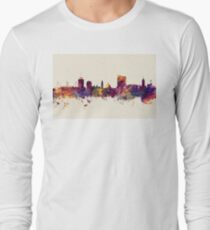 Cardiff Wales Skyline Long Sleeve T-Shirt