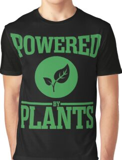 Vegan - Powered By Plants Graphic T-Shirt
