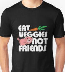 Vegan - Eat Veggies Not Friends Unisex T-Shirt
