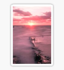 Bude, Cornwall, UK, Tidal Pool Sunset ~ Atlantic Coast Sticker