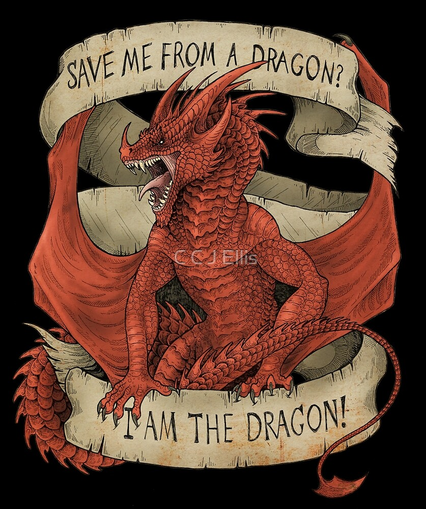 I am the Dragon - Red by Flying Viper