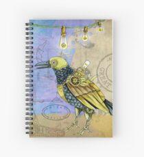 Steampunk Raven Spiral Notebook