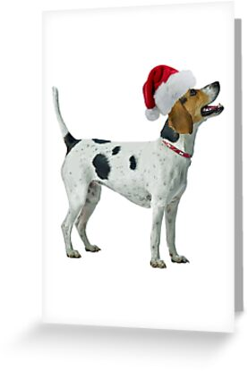 Foxhound Santa Claus Merry Christmas by CafePretzel