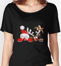 Funny Christmas Santa Women's Relaxed Fit T-Shirt