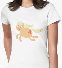 Poobrains - Applejack Women's Fitted T-Shirt