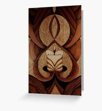 Fantasy of candle mood marquetry Greeting Card