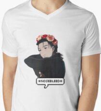 Camiseta de cuello en V etheral yuri