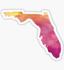 Florida Pink and Orange Watercolor Sticker