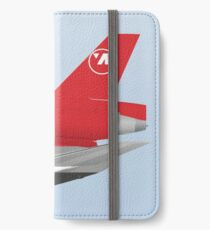 Wings In Uniform - DC-10 - Northwest Airlines - 80's iPhone Wallet/Case/Skin