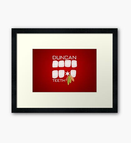 Duncan Teeth Framed Print