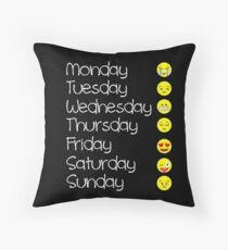 Emoji T Shirt Love Your Emoticon Shirt 7 Days - HQ Design Throw Pillow
