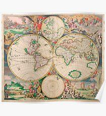 Mercator map Poster