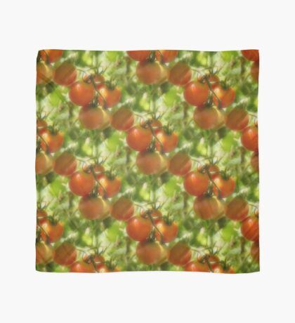 Garden Cherry Tomatoes Nature Pattern Scarf