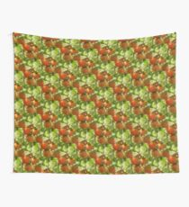 Garden Cherry Tomatoes Nature Pattern Wall Tapestry
