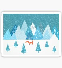Fox - Winter Sticker