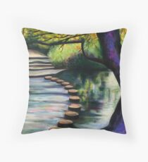 Stepping Stones, Box Hill Throw Pillow