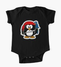 Penguin, Pirate, Penguins of the Caribbean, Cartoon, fun One Piece - Short Sleeve