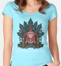 Santa Of Thrones - Christmas Is Coming Women's Fitted Scoop T-Shirt