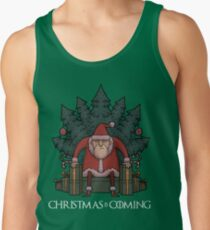 Santa Of Thrones - Christmas Is Coming Tank Top