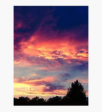 Suburban evening  Photographic Print