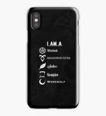 I AM A - Shadowhunters {Black} iPhone Case