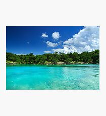 Azure Water Ocean Lagoon Photographic Print