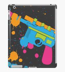 Han Solo Blaster Paint Splatter (Full Color) iPad Case/Skin