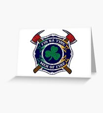 Fir na Tine - Men of Fire Greeting Card