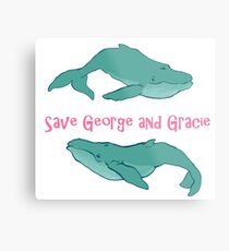 Star Trek: Save George and Gracie Metal Print