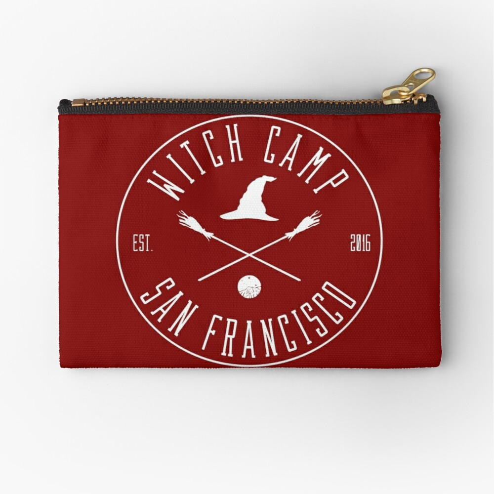 Witch Camp San Francisco (white) Zipper Pouch