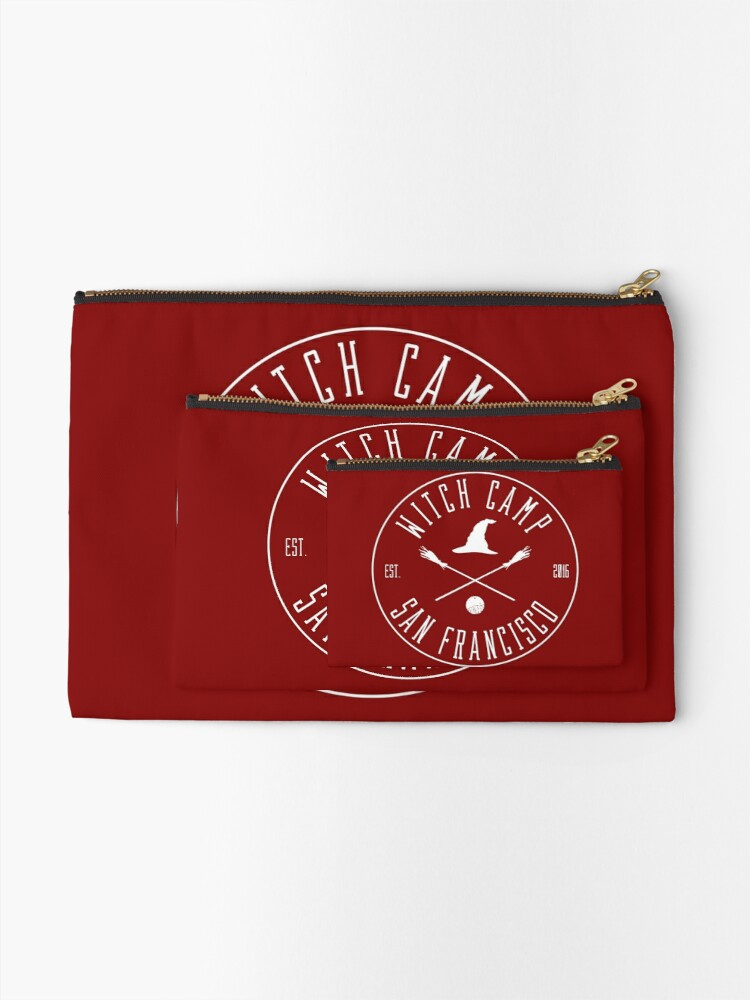 Alternate view of Witch Camp San Francisco (white) Zipper Pouch