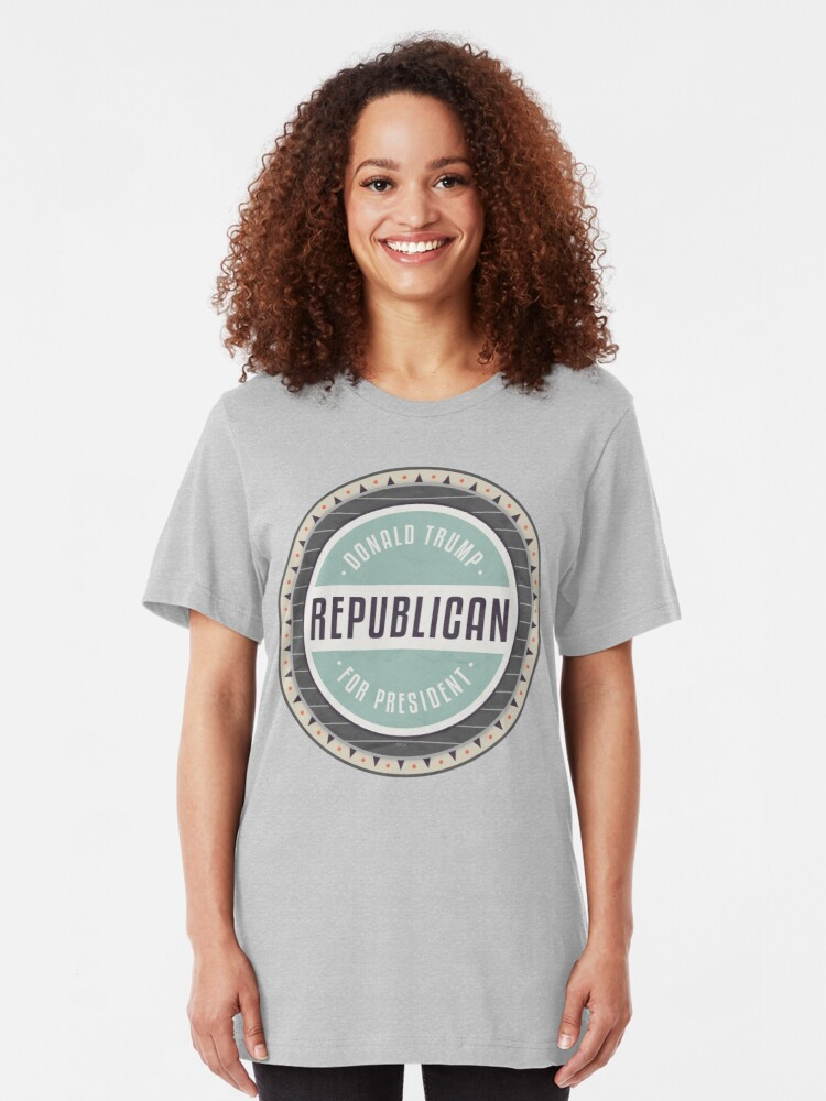 Alternate view of Trump For President Slim Fit T-Shirt