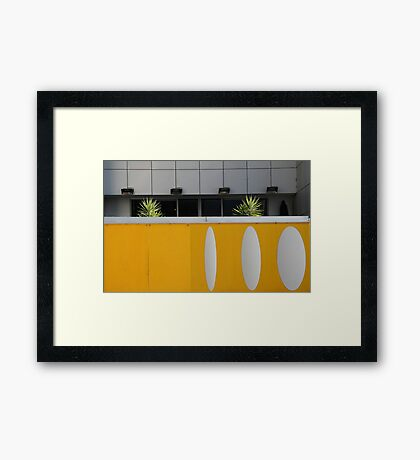 Study in grey and yellow Framed Print